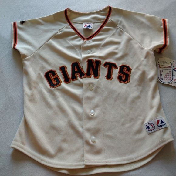 new styles 87212 17d6e Women's SF Giants Majestic Cream Jersey NWT